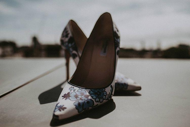 L.K.Bennett Wedding Shoes // Image By Jason Mark Harris