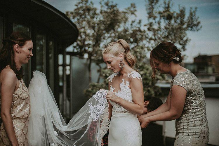 Second-Hand Pronovias Wedding Dress // Image By Jason Mark Harris