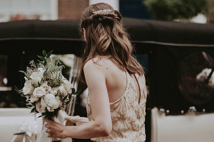 Bridesmaids In Embellished Maxi Dresses // Image By Jason Mark Harris