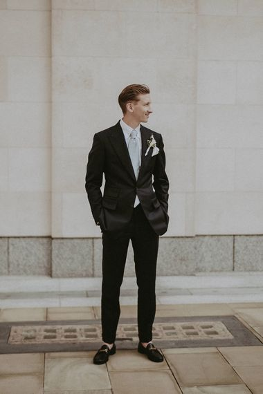 Groom In Tom Ford Suit // Image By Jason Mark Harris
