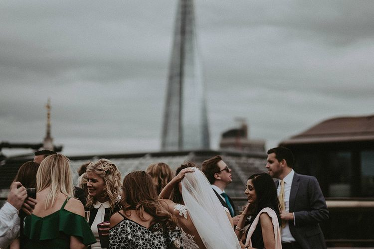 Stylish London Rooftop Wedding With Fireworks // Images By Jason Mark Harris // Film By Together We Roam