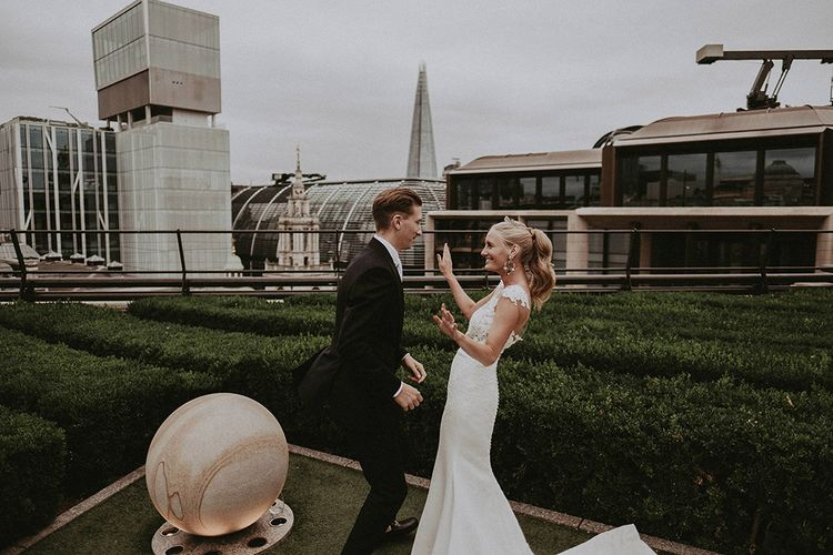 Second-Hand Wedding Dress For Stylish London Rooftop Wedding With Fireworks // Images By Jason Mark Harris // Film By Together We Roam