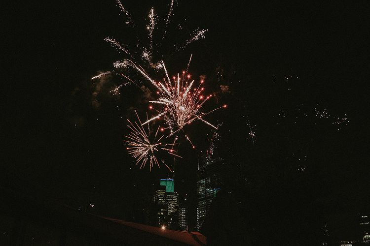 London Rooftop Wedding With Fireworks // Images By Jason Mark Harris // Film By Together We Roam