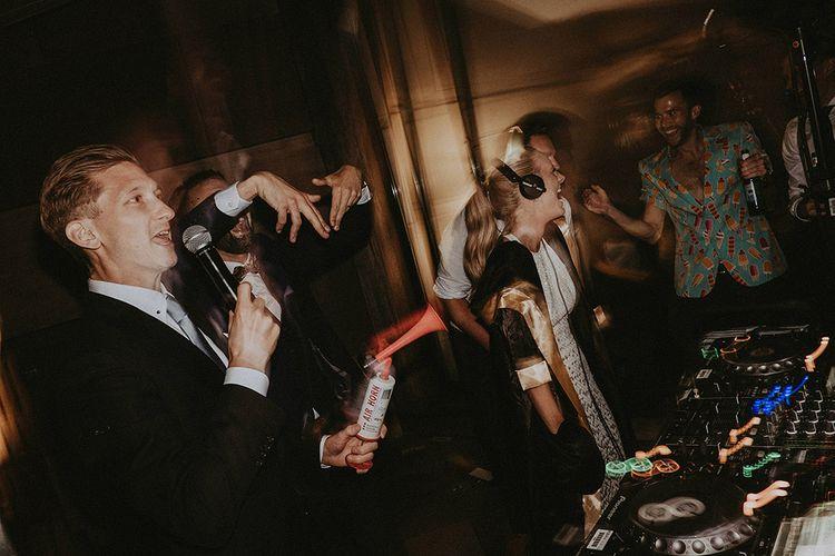 DJ Battle Bride vs Groom For Wedding Reception // Image By Jason Mark Harris