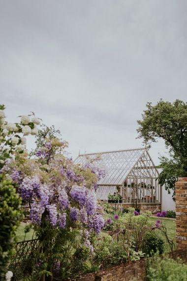 Violet Flower Filled Secret English Garden Inspiration in a Glasshouse Styled by The Timeless Stylist | Maja Tsolo Photography