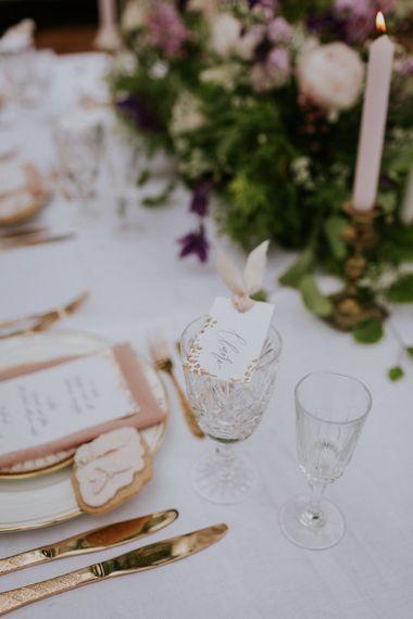 Mathilda Lundin  Wedding Stationery | Violet Flower Filled Secret English Garden Inspiration in a Glasshouse Styled by The Timeless Stylist | Maja Tsolo Photography