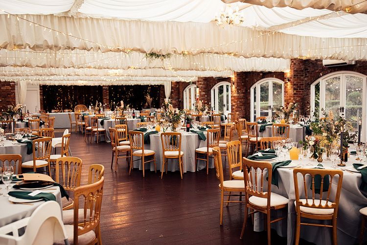 Emerald Green and Gold Wedding Reception at Northbrook Park