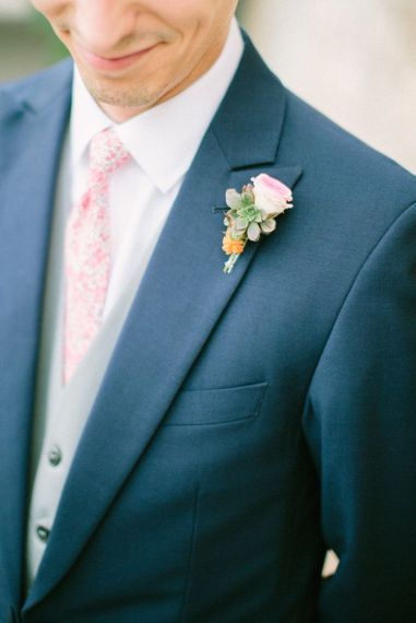 Delicate Pink Buttonhole