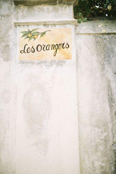 Les Oranges Wooden Sign