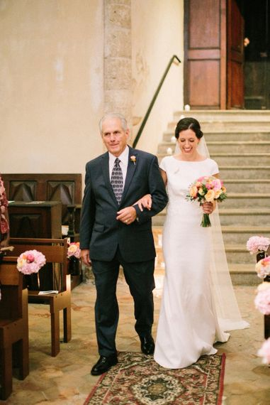 Wedding Ceremony Bridal Entrance in Rime Arodaky Wedding Dress