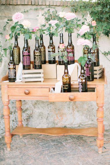 Brown Bottle Table Plan on Vintage Dresser