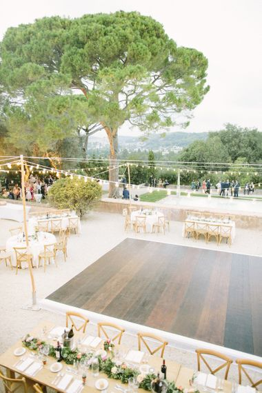 Wedding Reception with Dance Floor in the Middle