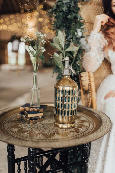 Moroccan Wedding Decor | Geometric Wedding Decor & Styling by Locate to Create at The Cherry Barn | Rebecca Carpenter Photography