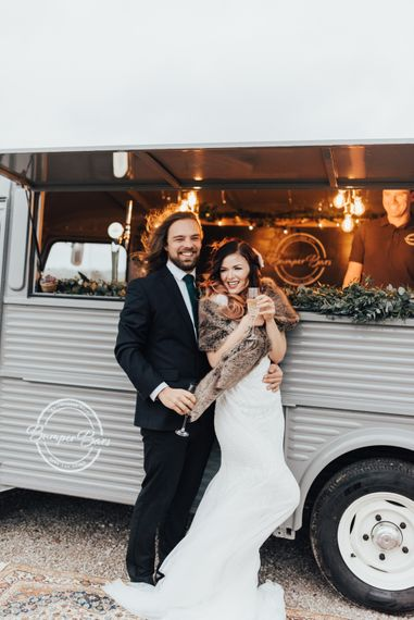 Street Bar Truck | Geometric Wedding Decor & Styling by Locate to Create at The Cherry Barn | Rebecca Carpenter Photography