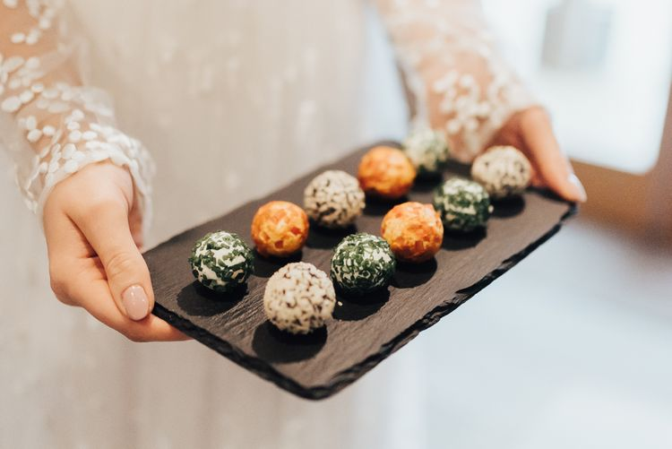 Food Platter | Geometric Wedding Decor & Styling by Locate to Create at The Cherry Barn | Rebecca Carpenter Photography