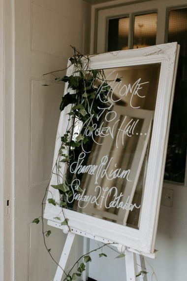 Mirrored wedding signs