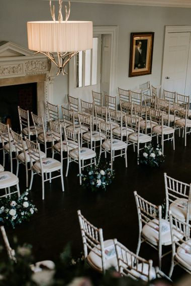 Wedding ceremony set up at Morden Hall