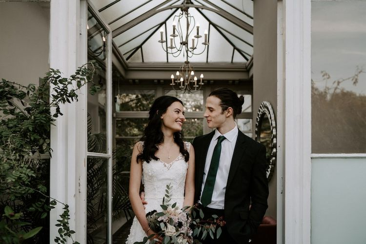 Bride and groom at Morden Hall in London