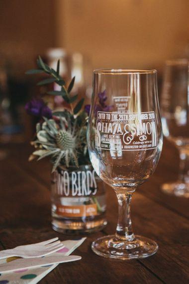 Personalised Wedding Glass
