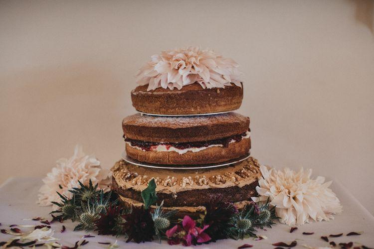 Homemade Naked Wedding Cake