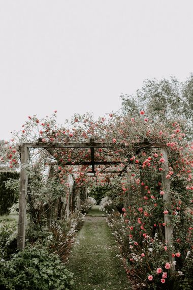 Flower arch at Irish micro wedding