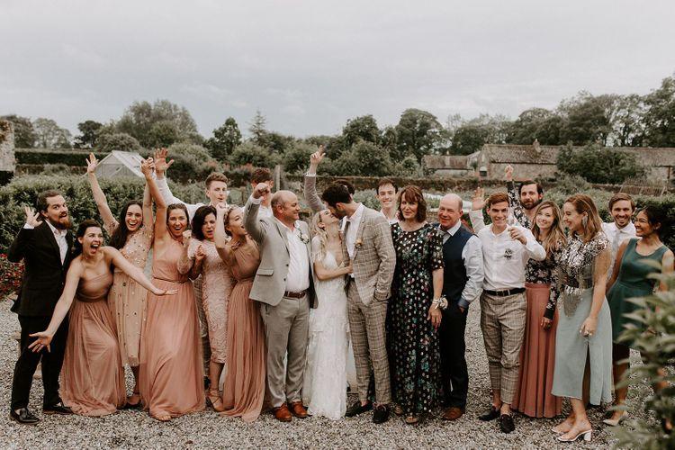 Wedding guests at micro wedding
