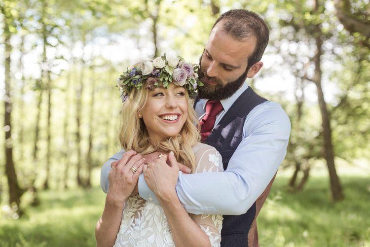 Sugar Loaf Barn Wedding // Pale Grey Off The Shoulder Bridesmaids Dresses Rewritten // Groom In Harris Tweed // Hog Roast Evening Buffet // Eleanor Jane Photography