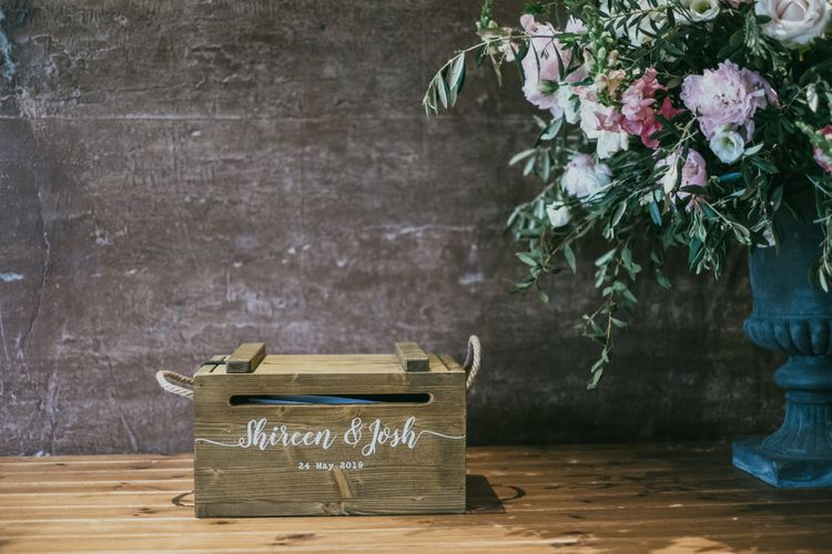 Personalised Wooden Wedding Card Box