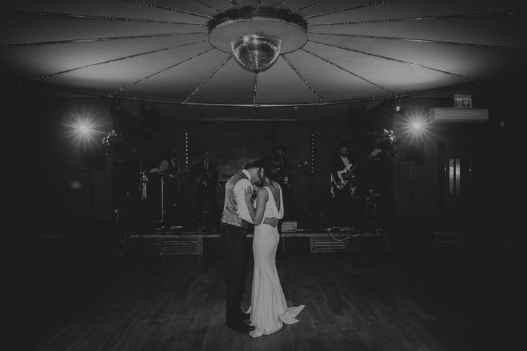 Bride and Groom First Dance at Elmore Court Wedding Venue