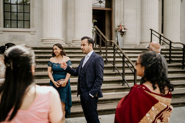 Wedding guests at Old Marylebone Town Hall ceremony