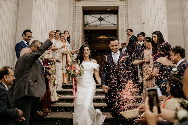 Confetti moment at Old Marylebone Town Hall