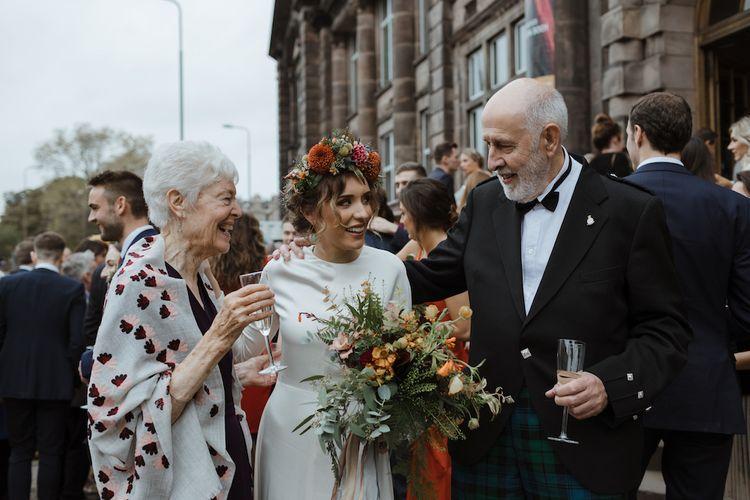 Bride Talking to Wedding Guests
