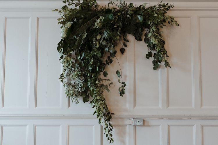 Foliage Altar Wedding Flower Decor