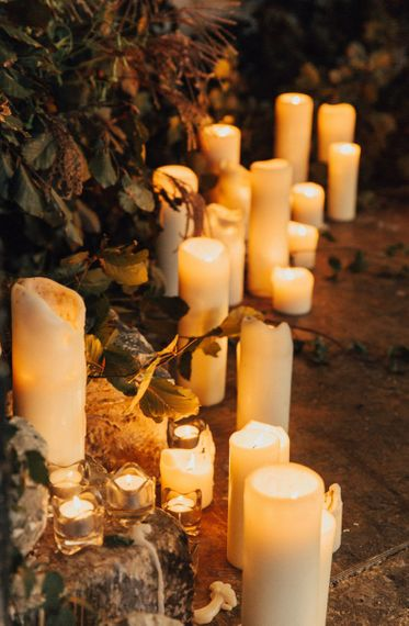 Lots of Church Candles Decorated The Asylum Chapel Altar