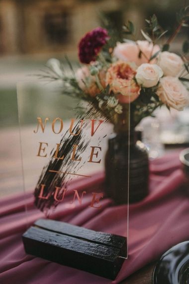 Acrylic Table Name Sign