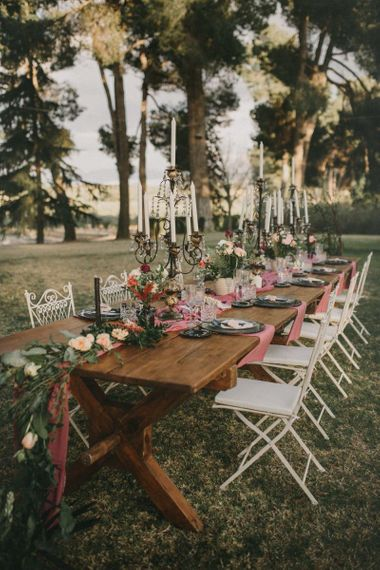 Intimate Tablescape for Small Wedding