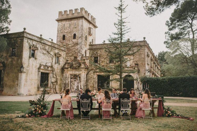 Outdoor Wedding Reception for Small Wedding