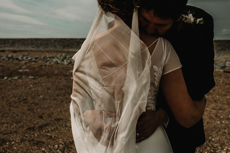 Veil – Noon on the Moon | Welsh Boho Wedding | Carla Blain Photography | Exclusive Hire of Plas Gwynfryn
