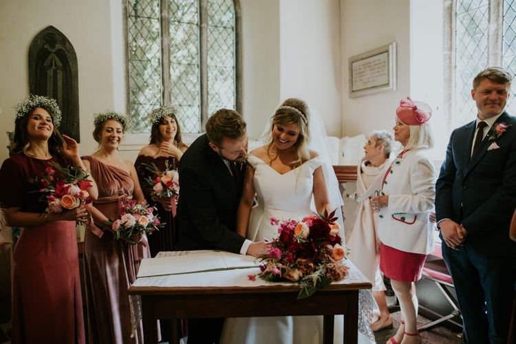 Coastal Wedding In St Mawes Cornwall With Food By The Hidden Hut And Planning By Isla And Smith With Images From Enchanted Brides Photography
