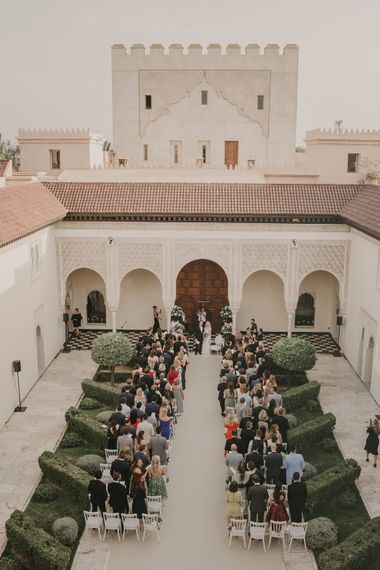 Wedding Ceremony | Marrakesh Wedding at Ksar Char Bagh Hotel, Planned by Instants Magiques | Pablo Laguia Photography | Monika Frias Videography