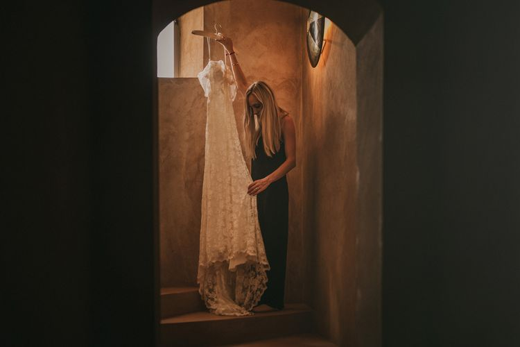 Bridal Morning Wedding Preparations | Olvis Lace Bridal Gown from Teokath Boutique | Marrakesh Wedding at Ksar Char Bagh Hotel, Planned by Instants Magiques | Pablo Laguia Photography | Monika Frias Videography