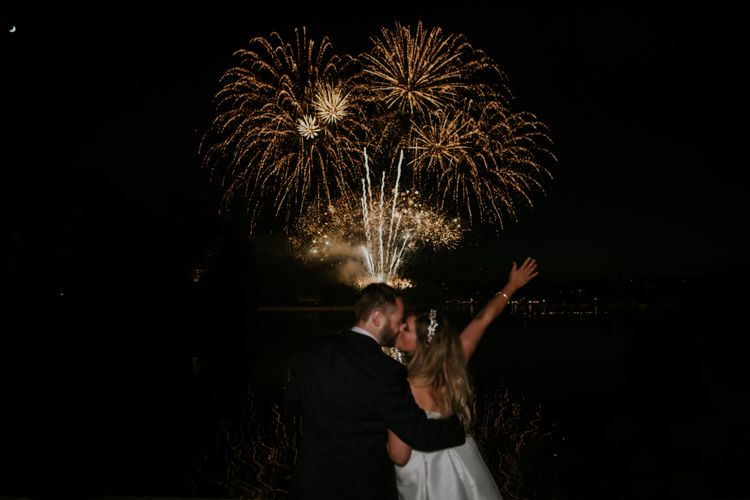 Fireworks For Wedding // Coastal Wedding In St Mawes Cornwall With Food By The Hidden Hut And Planning By Isla And Smith With Images From Enchanted Brides Photography
