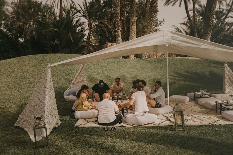 Marrakesh Wedding at Ksar Char Bagh Hotel, Planned by Instants Magiques | Pablo Laguia Photography | Monika Frias Videography