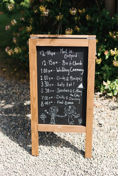 Chalkboard Easel Wedding Sign