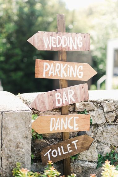 Wooden Signage For Wedding