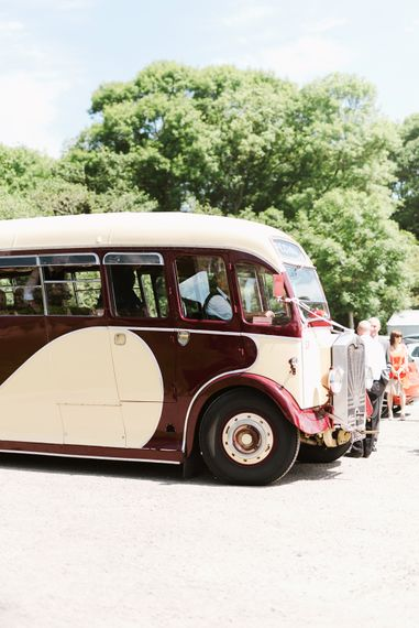 Vintage Bus Wedding Transport