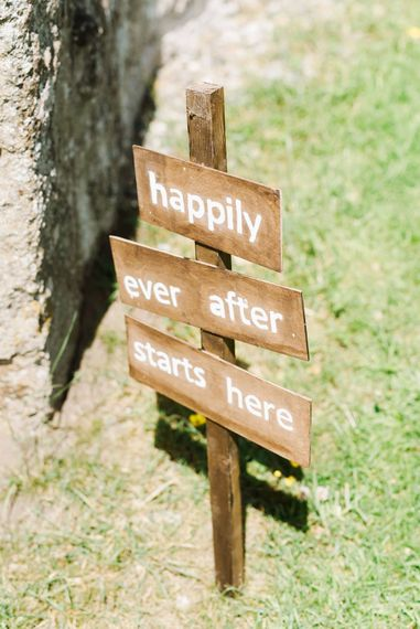 Happily Ever After Starts Here Sign For Wedding