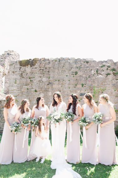 Bridesmaids In Pale Lilac Dresses From ASOS