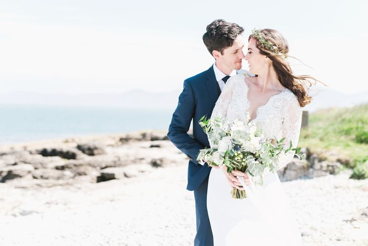 Anglesey Wedding With Foliage Details And Skateboarding Groom And Bride In Emma Beaumont With Images From Emma Pilkington Weddings