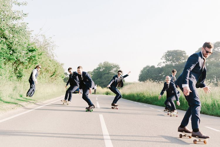 Skateboarding Groom